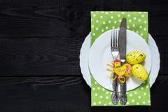 Ajuste festivo da tabela de Easter Foto de Stock Royalty Free