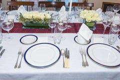 Ajuste festivo de la tabla de cena Imagen de archivo