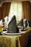 Ajuste festivo de la tabla para el banquete de boda Imagen de archivo libre de regalías
