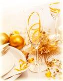 Ajuste festivo luxuoso da tabela Imagem de Stock