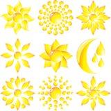 Ajuste a flor de vidro Imagens de Stock