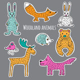 Ajuste Forest Animals Fotos de Stock