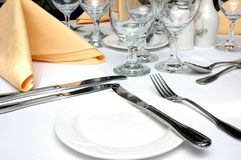 Ajuste formal do jantar Fotografia de Stock