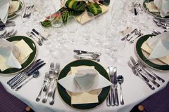 Ajuste formal do jantar Imagem de Stock Royalty Free