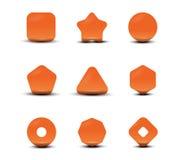Ajuste formas dos ícones Fotografia de Stock Royalty Free