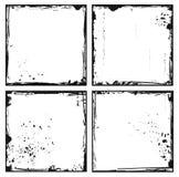 Ajuste frames do grunge Imagem de Stock Royalty Free