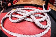 Ajuste fuerte de la cuerda Fotos de archivo