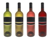 Ajuste a garrafa de vinho isolada ilustração stock