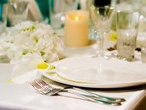 Ajuste hermoso de la tabla para la celebración Imagen de archivo libre de regalías