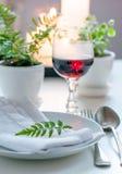 Ajuste home da mesa de jantar do vintage Fotografia de Stock