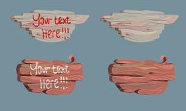 Ajuste a ilustração do vetor da placa de madeira cartoon ilustração do vetor