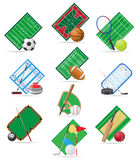 Ajuste a ilustração do vetor do esporte dos ícones Fotografia de Stock Royalty Free