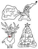 Ajuste a ilustração do vetor pelo Natal e o ano novo Imagens de Stock