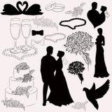 Ajuste a ilustração para o casamento Imagem de Stock Royalty Free