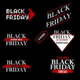 Ajuste a inscrição da venda de Black Friday Fotografia de Stock Royalty Free