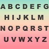 Ajuste letras Imagem de Stock Royalty Free
