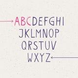Ajuste letras do alfabeto Fotos de Stock