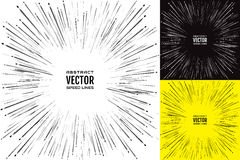 Ajuste a linha da velocidade do traço Ilustração festiva com explosão do poder do efeito Elemento do projeto Vetor ilustração do vetor