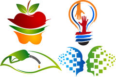Ajuste logotipos da coleção ilustração stock