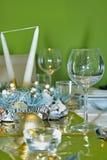 Ajuste luxuoso da tabela da celebração Fotografia de Stock