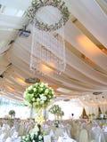 Ajuste luxuoso da tabela do casamento Imagens de Stock
