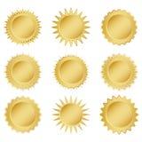 Ajuste medalhas de ouro ilustração stock