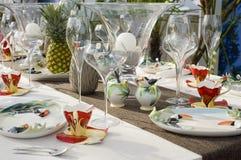 Ajuste moderno da tabela de jantar Foto de Stock