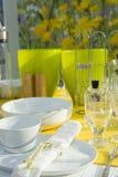 Ajuste moderno da tabela de jantar Fotografia de Stock