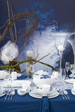 Ajuste moderno da tabela na noite Imagens de Stock Royalty Free