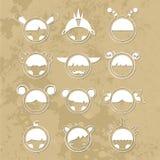Ajuste monstro bonitos dos desenhos animados Vetor 10 imagem de stock royalty free