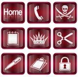 Ajuste o ícone #07 vermelho Fotos de Stock Royalty Free