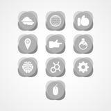 Ajuste o ícone da Web do conceito Imagens de Stock Royalty Free