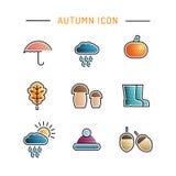 Ajuste o ícone do outono Imagens de Stock