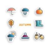 Ajuste o ícone do outono Imagem de Stock