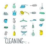 Ajuste o ícone do serviço da limpeza ilustração do vetor