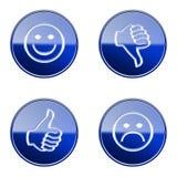 Ajuste o ícone #26 lustroso azul ilustração do vetor