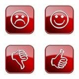 Ajuste o ícone #26 lustroso vermelho. Foto de Stock Royalty Free