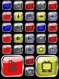 Ajuste o ícone para o Web Imagens de Stock Royalty Free
