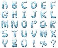 Ajuste o alfabeto da letra do waterdrop Fotos de Stock