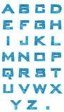 Ajuste o alfabeto das letras Fotografia de Stock