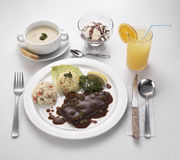 Ajuste o almoço Fotografia de Stock