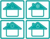 Ajuste o botão do controle do clima do condicionador Imagem de Stock