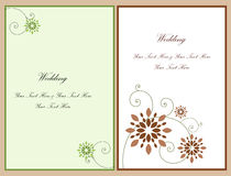 Ajuste o cartão 4 do convite do casamento Foto de Stock