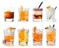 Ajuste o cocktail alcoólico com uísque foto de stock royalty free