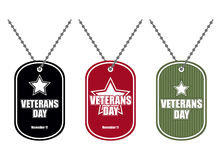 Ajuste o crachá do exército Medalhões do soldado de cores diferentes Logotipo para Imagem de Stock Royalty Free