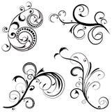 Ajuste o design floral do ornamento. Fotografia de Stock