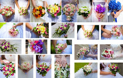 Ajuste o grupo do casamento nas mãos Fotos de Stock