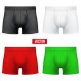 Ajuste o homem de resumos diferentes das cuecas das cores Imagens de Stock