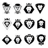 Ajuste o leão principal do logotipo Fotografia de Stock Royalty Free