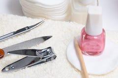 Ajuste o manicure Fotografia de Stock